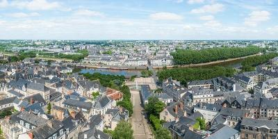 Angers depuis les toits de la cathédrale