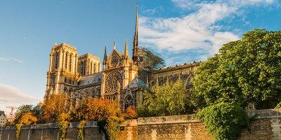 Cathédrale Notre Dame avant et après l'incendie