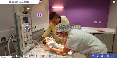 Visite virtuelle de la maternité du CHU d'Angers