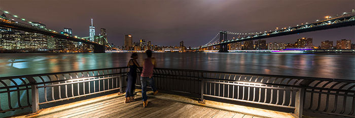 Ponts de Brooklyn et Manhattan - New York